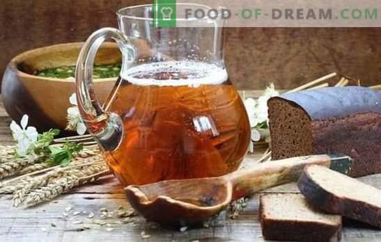 Mājā gatavota gaļa (pakāpeniska recepte) ir dabisks atspirdzinošs dzēriens. Pakāpeniska recepte mājas rauga kvass un bez rauga