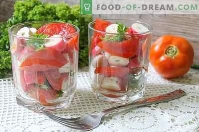 Instant tomātu uzkodas 15 minūšu laikā - vasaras dārzeņu skaistums, garša un priekšrocības
