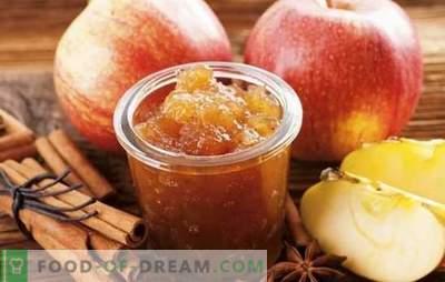 Mājas ābolu ievārījums ziemai - nepieciešamais sagatavošanās! Dažādu ābolu receptes no āboliem mājās