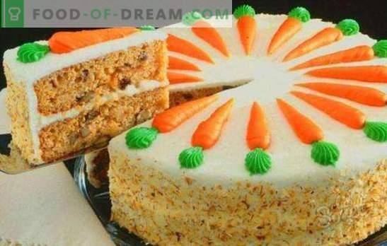 Klasisks burkānu kūka - sulīgs rudens deserts. Klasisks burkānu kūka ar garšvielām, krējuma sieru, riekstiem, šokolādi