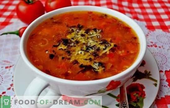 Супа со домати - класика. Светски рецепти за готвење супи со домати: вкусен, здрав, невообичаено