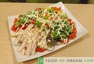 Vistas filejas salāti - piecas labākās receptes. Kā pareizi un garšīgi pagatavot salātus ar vistas fileju.