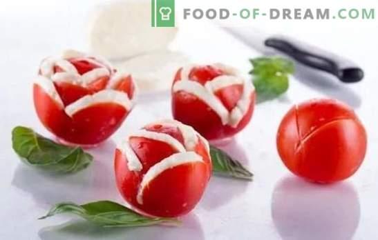 Tomātu uzkodas, salāti un sānu ēdieni ziemai. Pierādītas tomātu uzkodas receptes ziemas ēdienkartē: ar pipariem, sēnēm, riekstiem