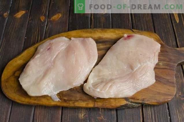 Carne de pollo al estilo francés con champiñones y papas